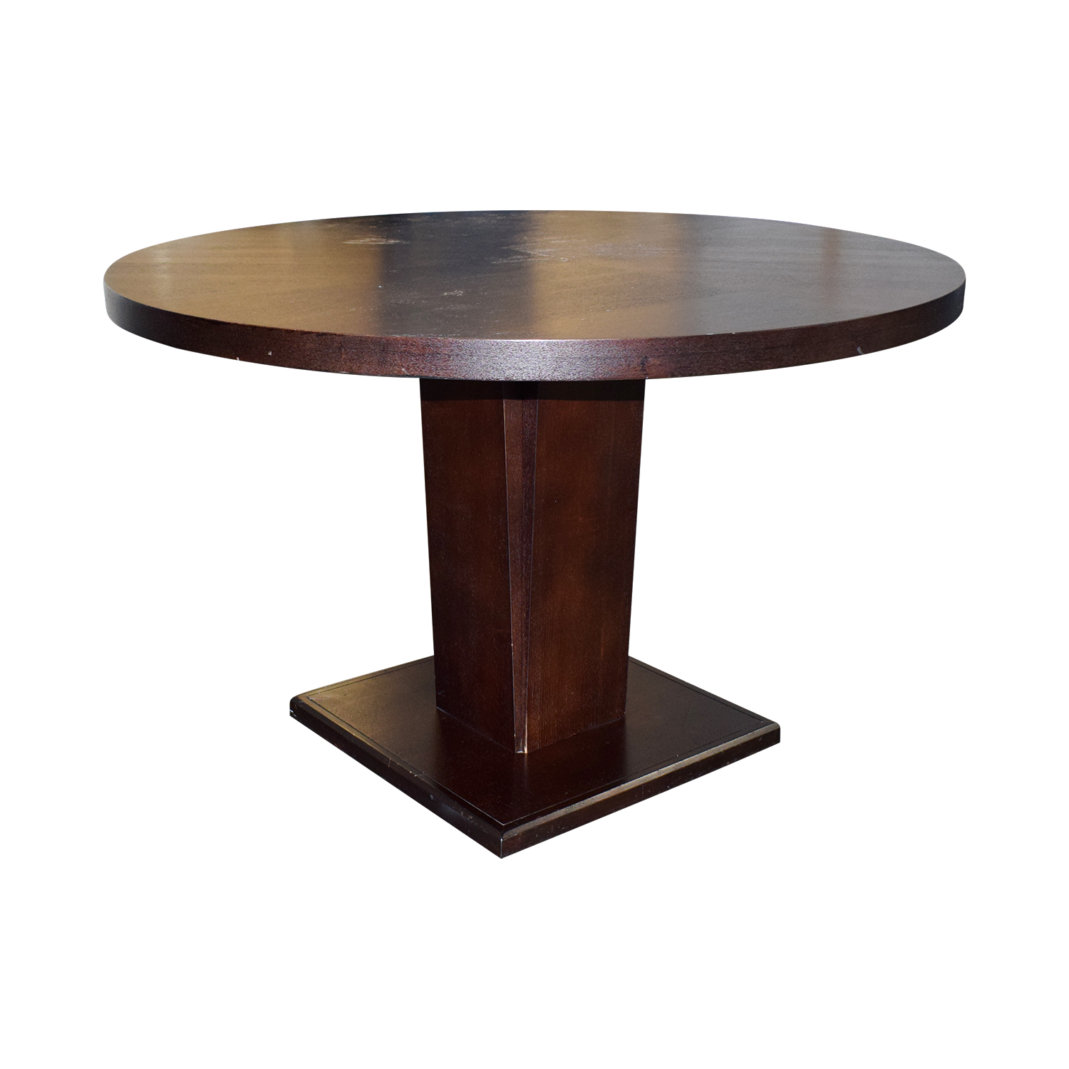 Wood Round Dining Table: Round Wood Dining Table / Tables
