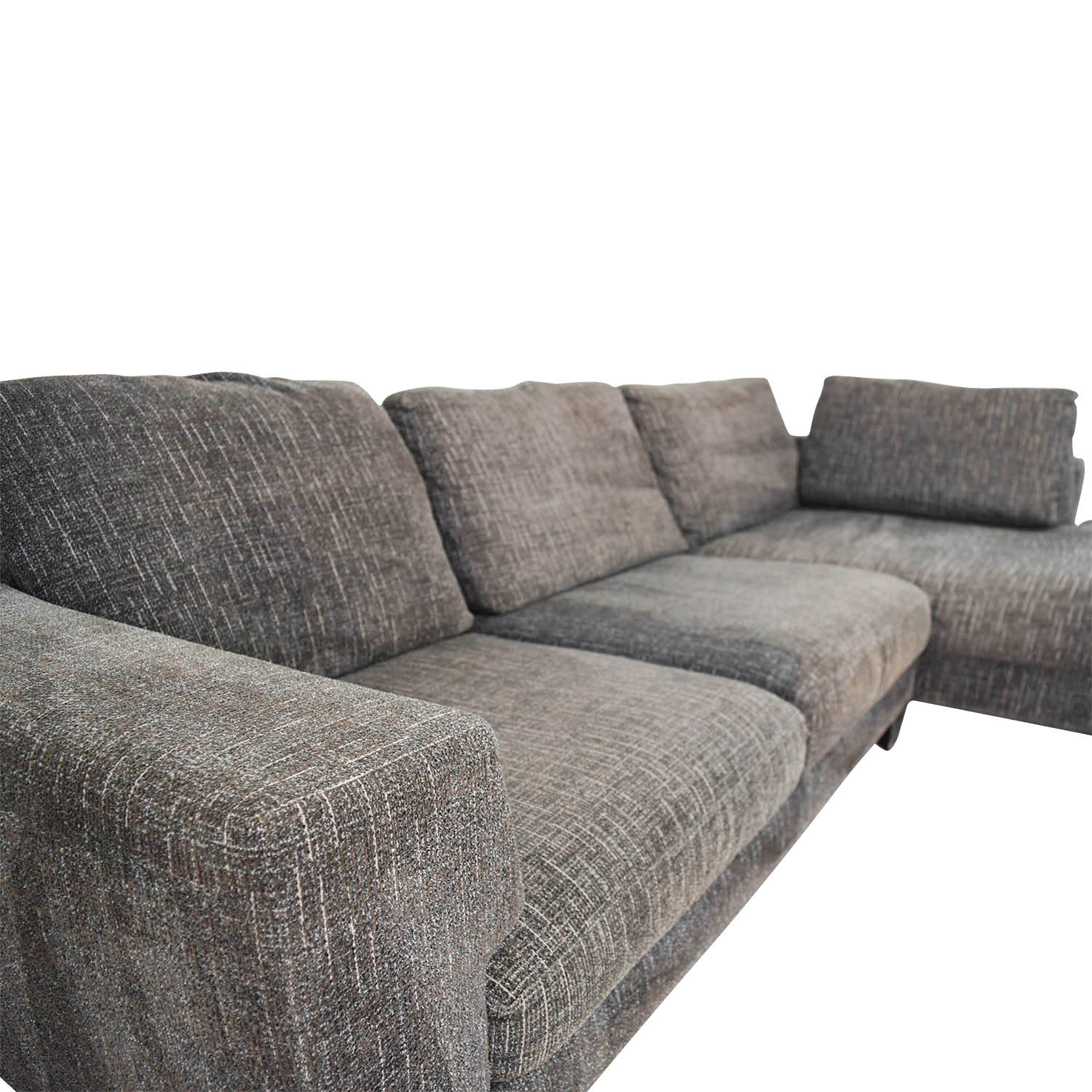 Super Brown Tweed Sectional Sofa Home The Honoroak Gamerscity Chair Design For Home Gamerscityorg
