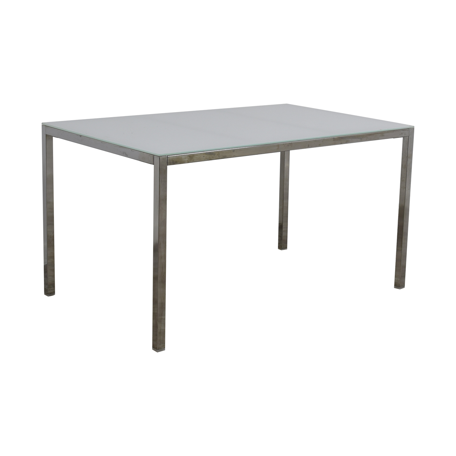 IKEA IKEA White Glass Top Dining Table on sale