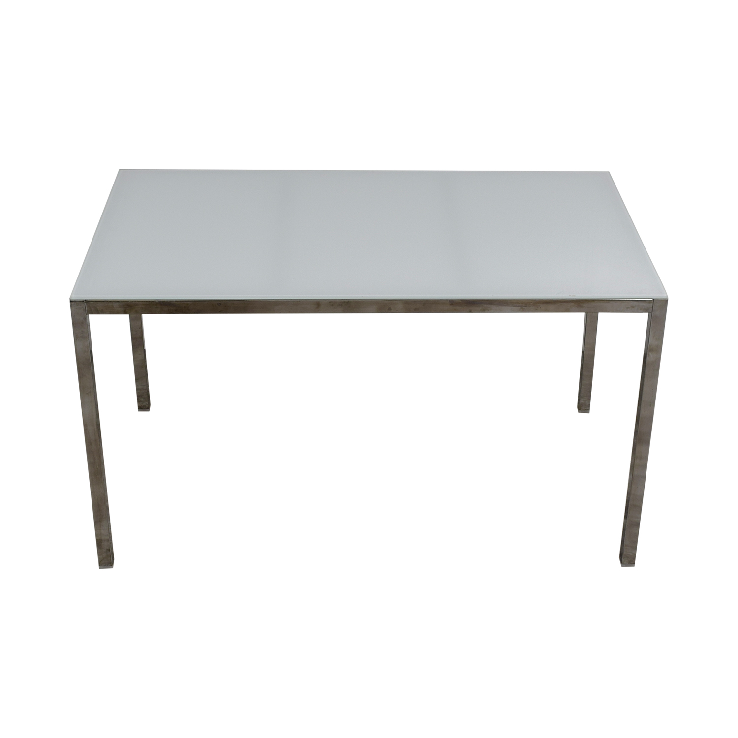 IKEA IKEA White Glass Top Dining Table discount