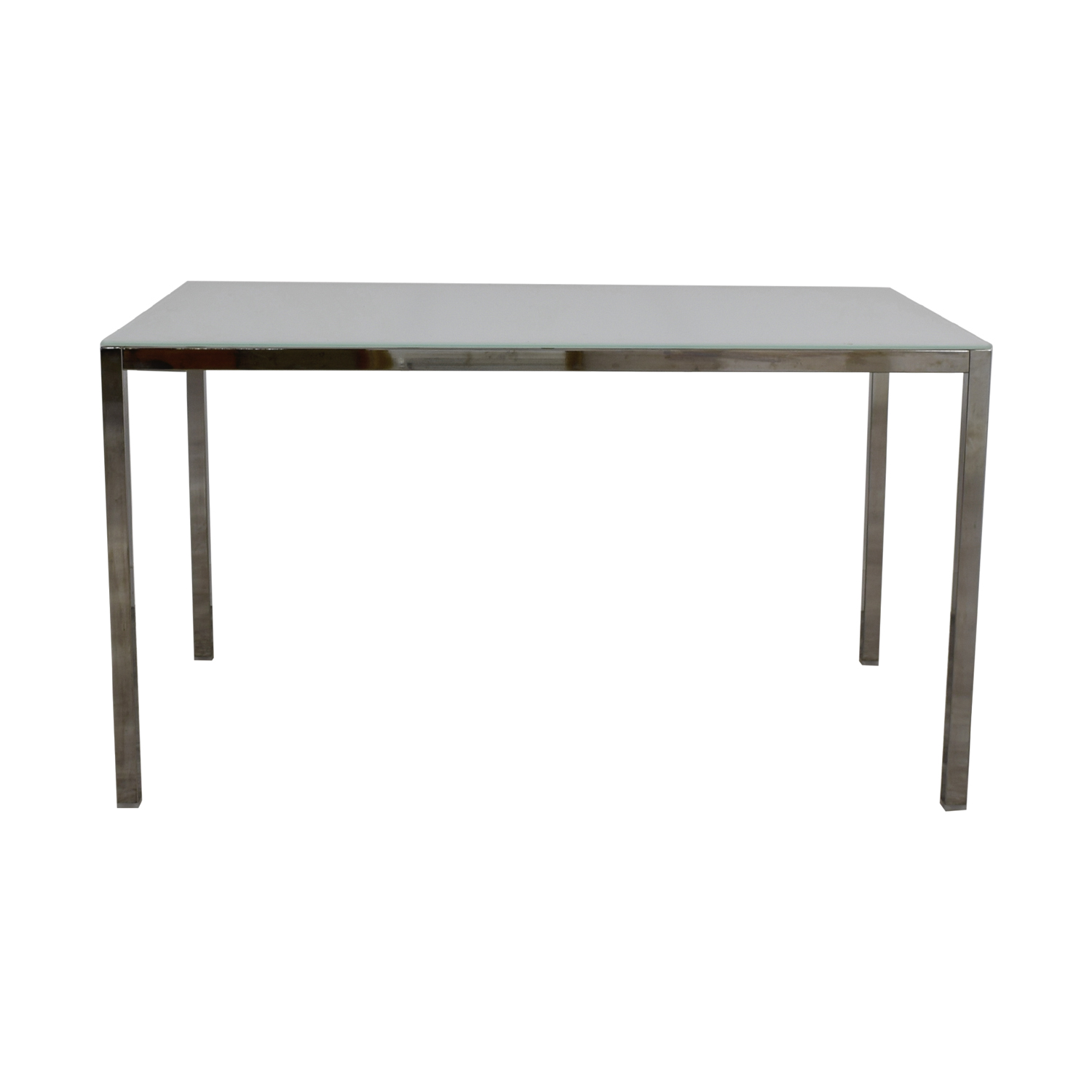 shop IKEA White Glass Top Dining Table IKEA Dinner Tables