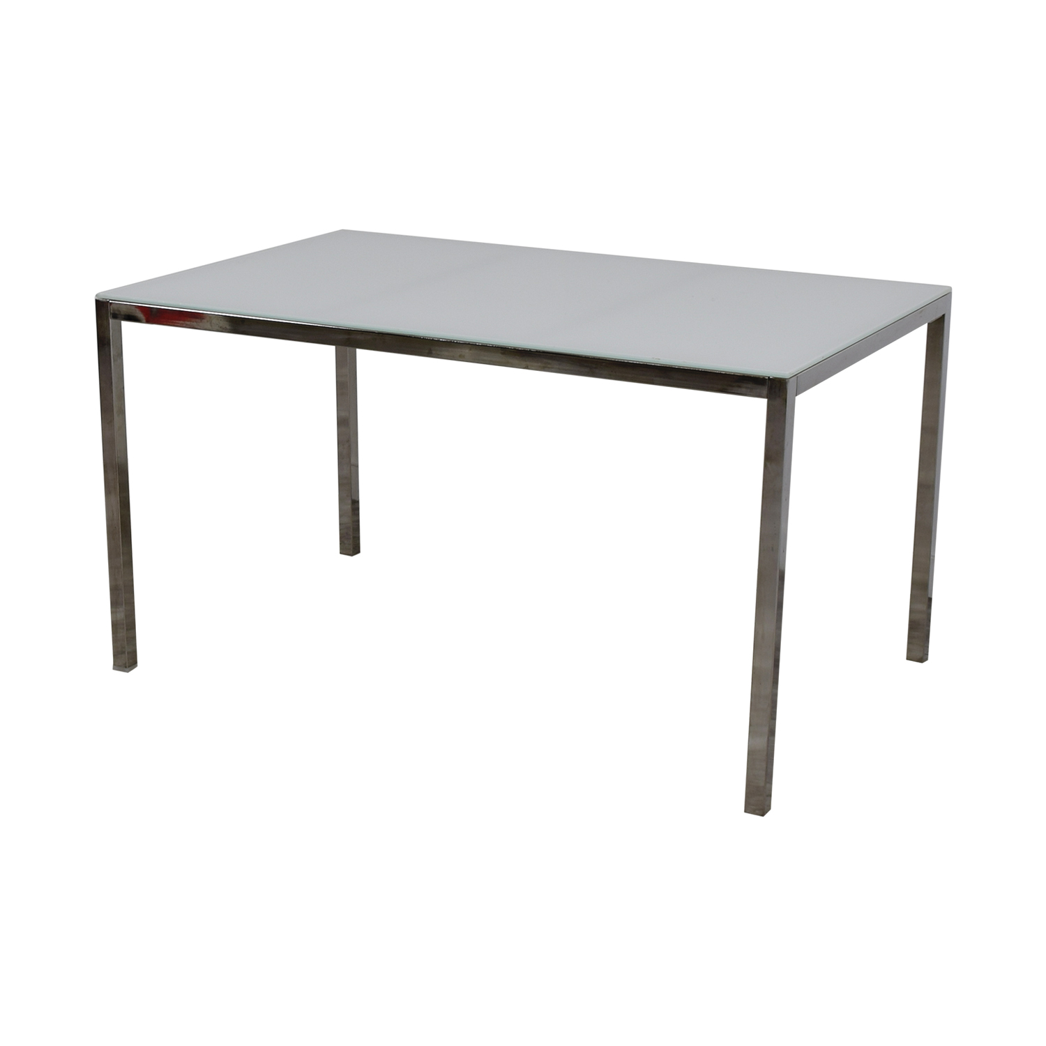 84 off ikea ikea white glass top dining table tables for Ikea glass table tops