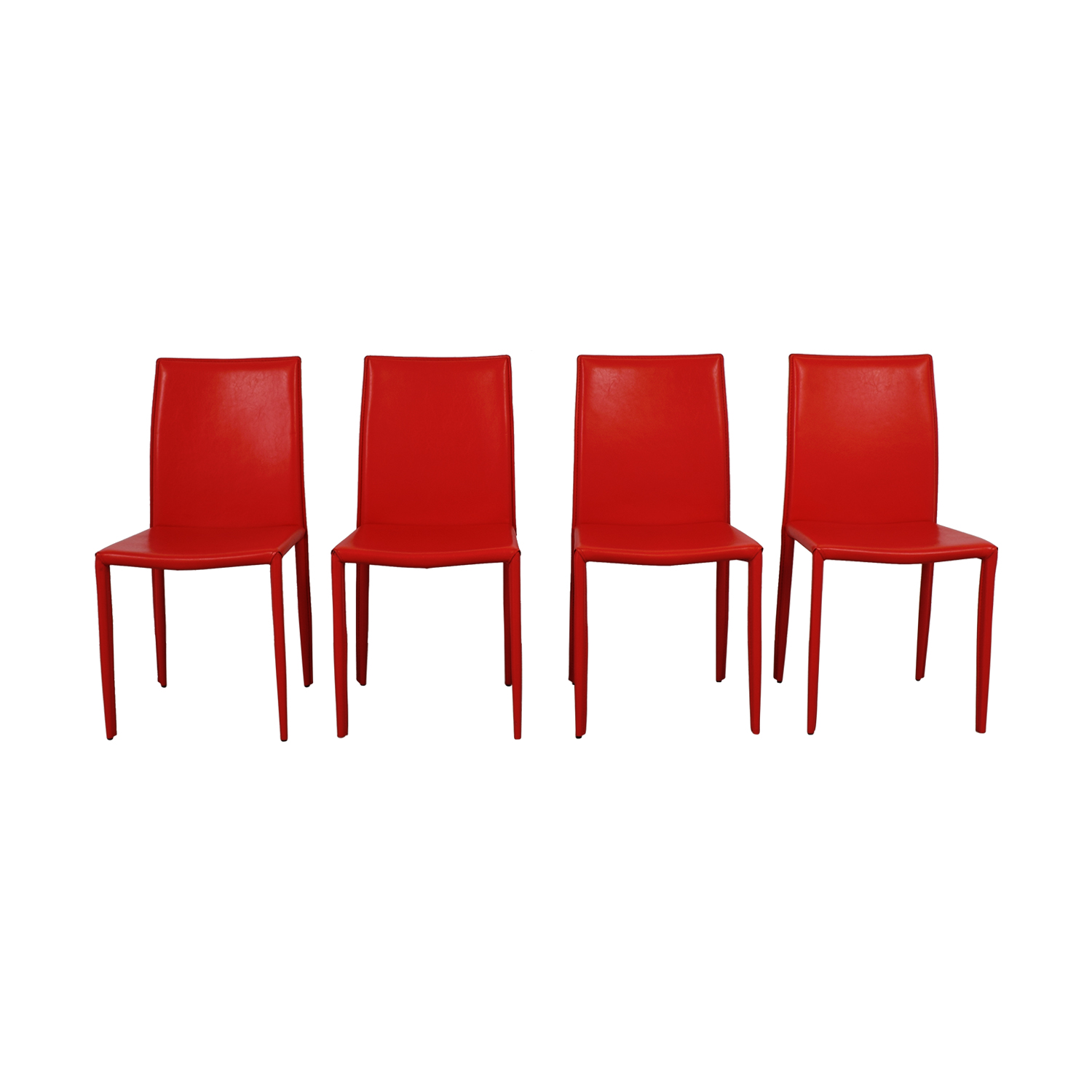 Safaviah Safaviah Red Leather Chairs second hand