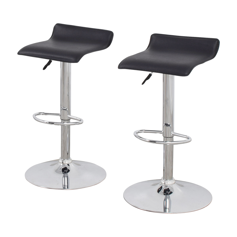 86 off black bar stools chairs for Black bar stools