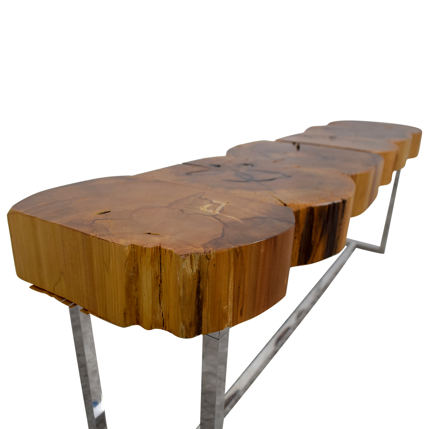 Custom Cut Natural Wood Coffee Table / Tables