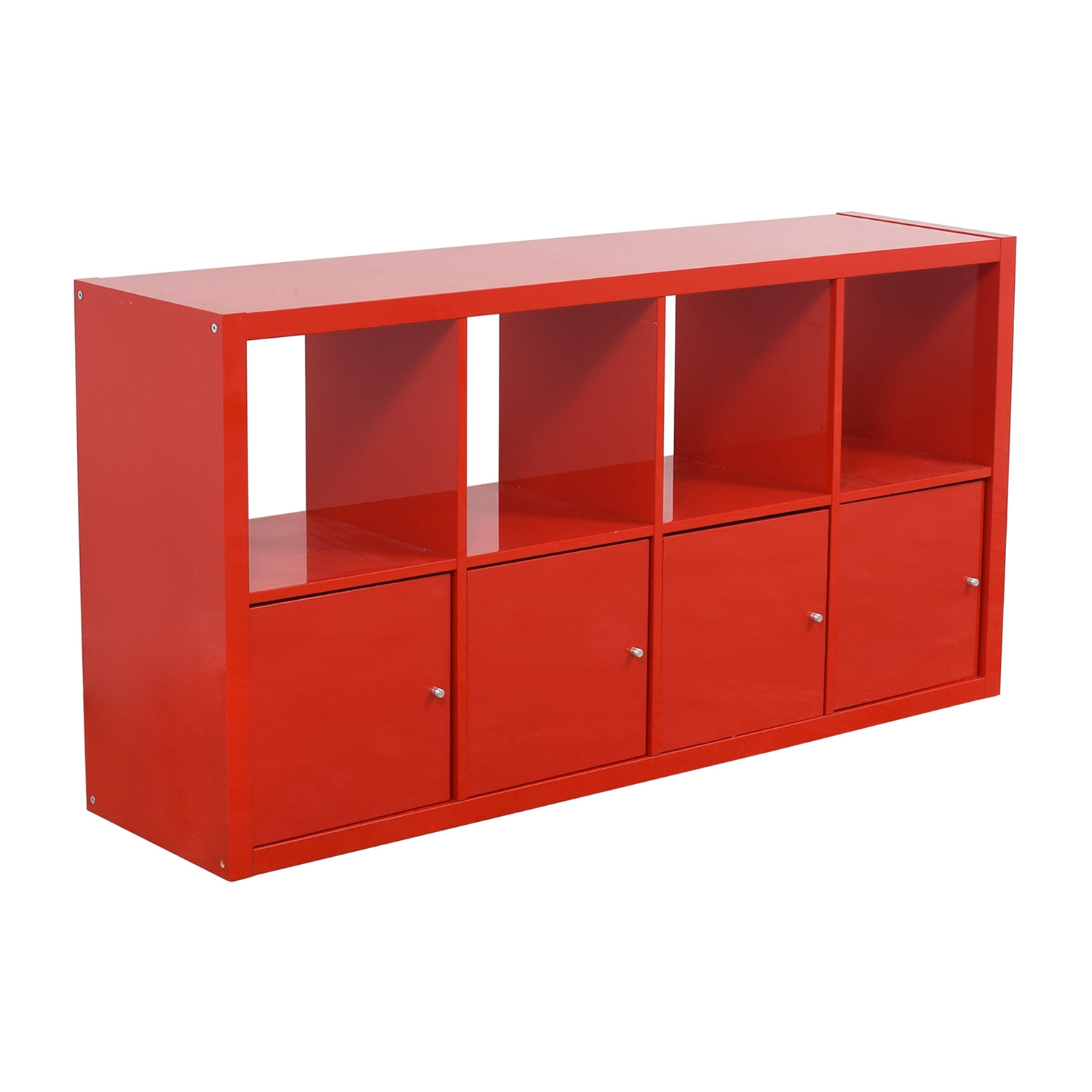 Ikea Red Shelving With Storage Cabinets Price
