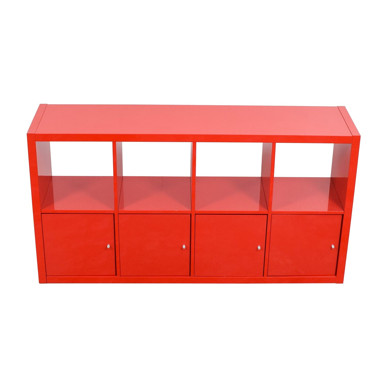 IKEA IKEA Red Shelving with Storage Cabinets used