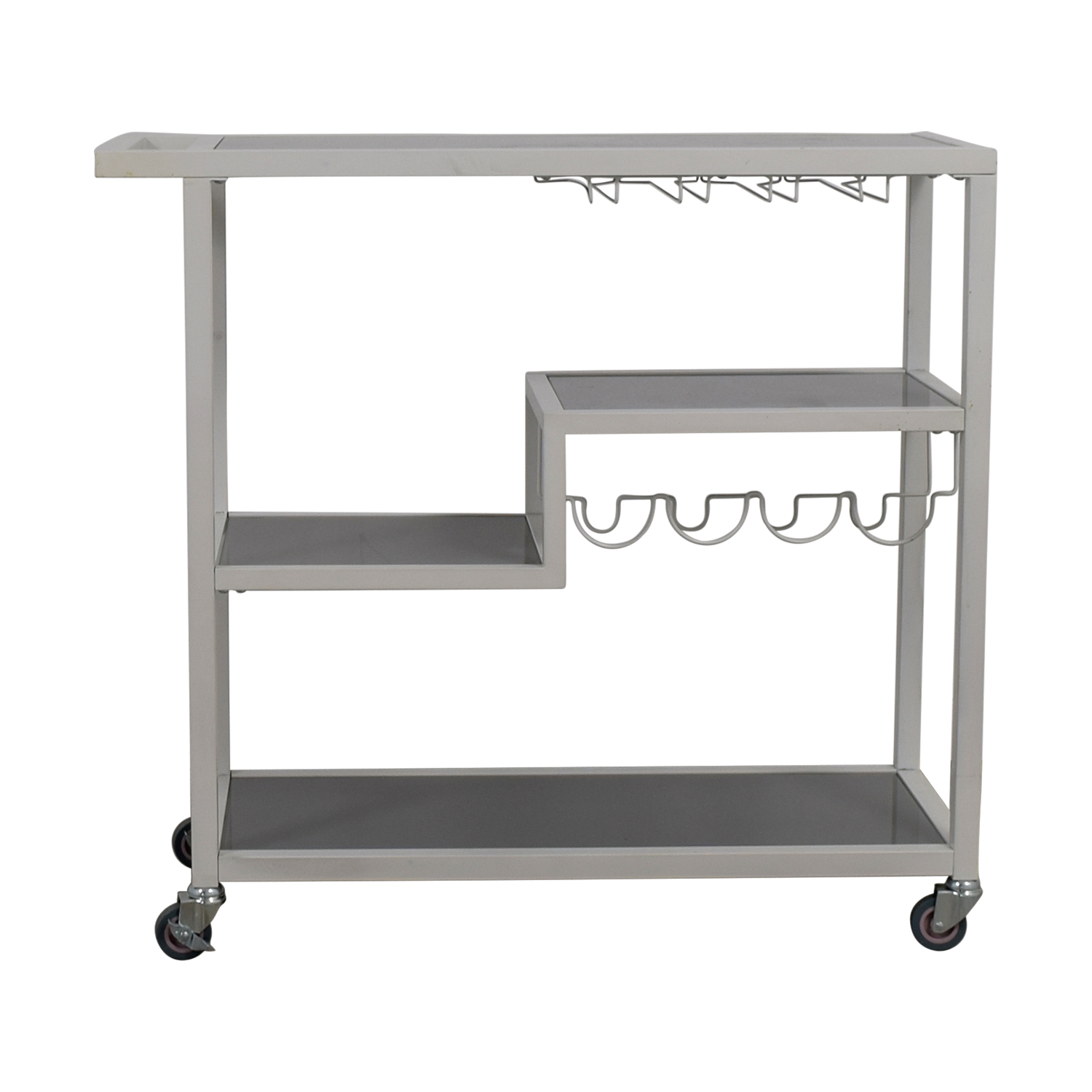 buy White Bar Cart Utility Tables