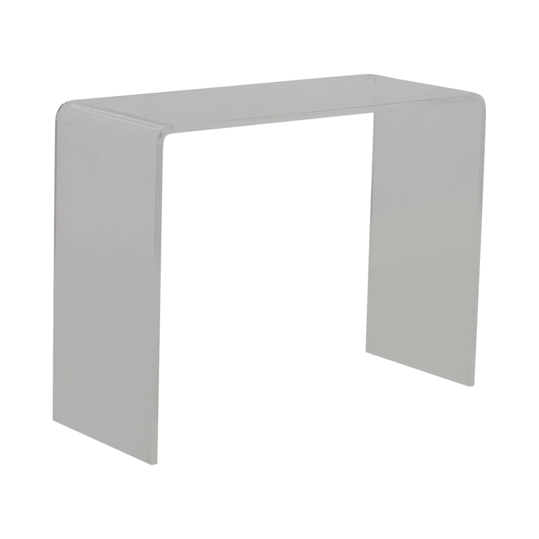 CB2 CB2 Acrylic Ghost Desk transparent