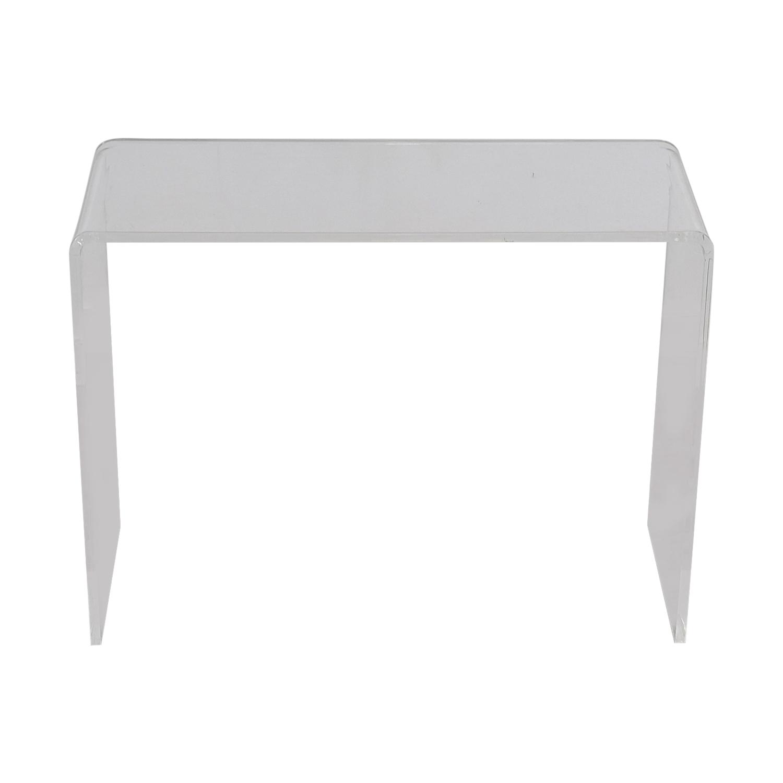 buy CB2 Acrylic Ghost Desk CB2