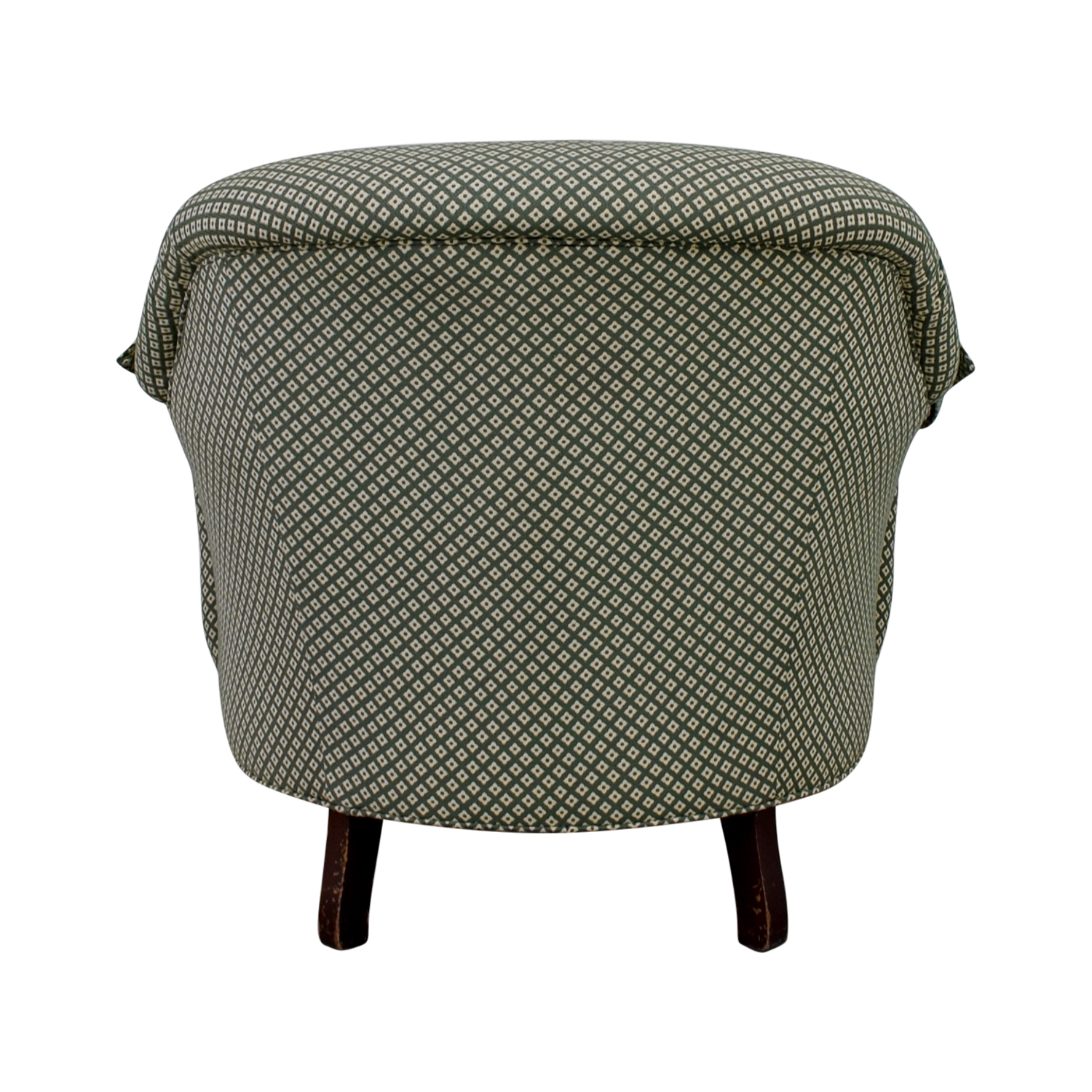buy Sherrill Furniture Tufted Green & White Armchair Sherrill Furniture