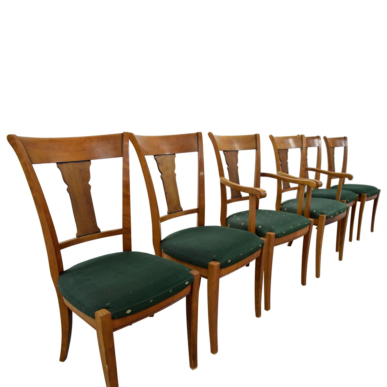 ... Grange Grange Rochambeau Green Upholstered Dining Chairs Coupon ...