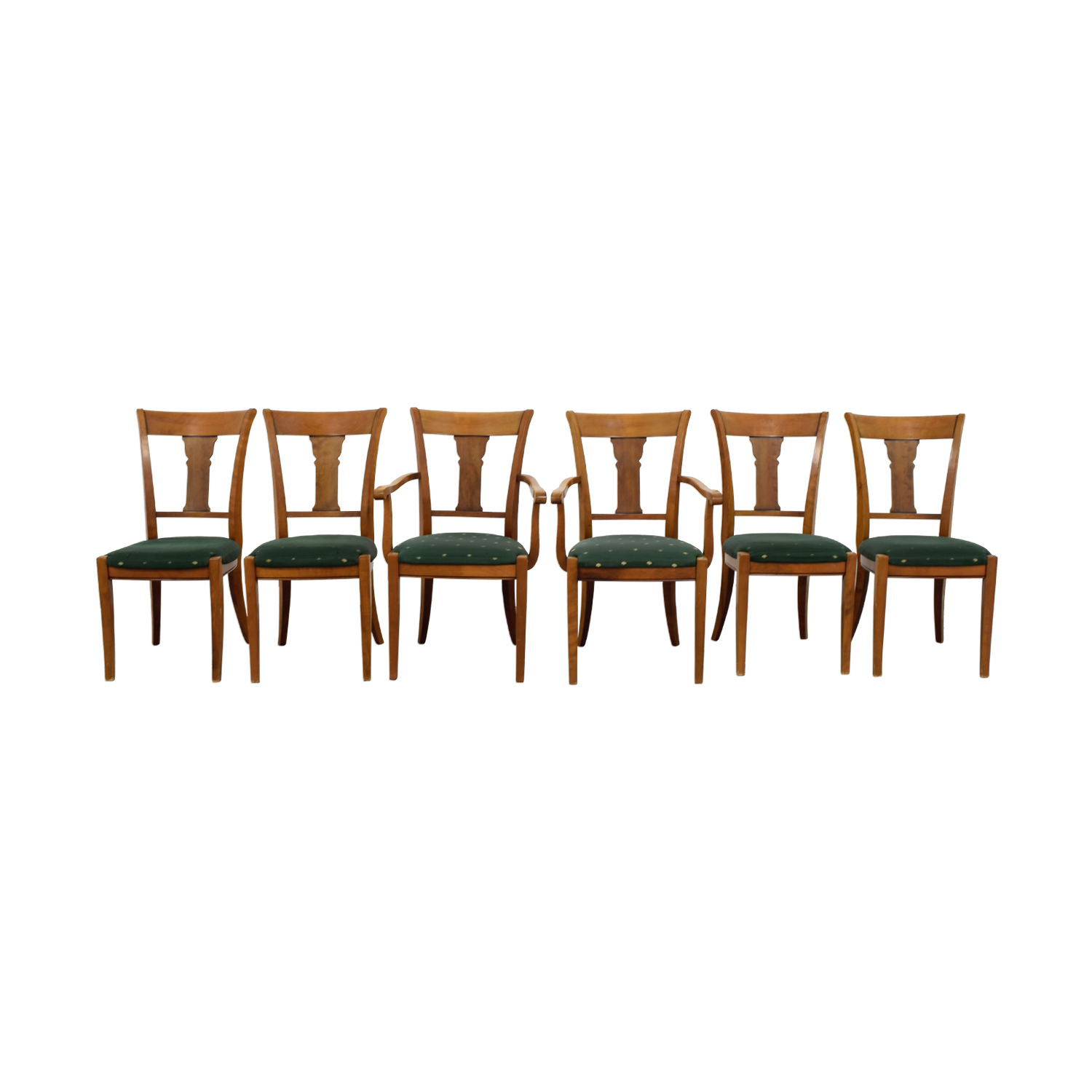 Grange Grange Rochambeau Green Upholstered Dining Chairs