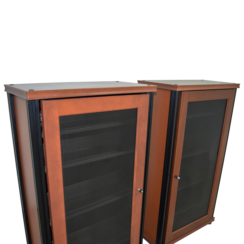90% OFF   Salamander Designs Salamander Designs Synergy Media Cabinets With  Glass Doors / Storage