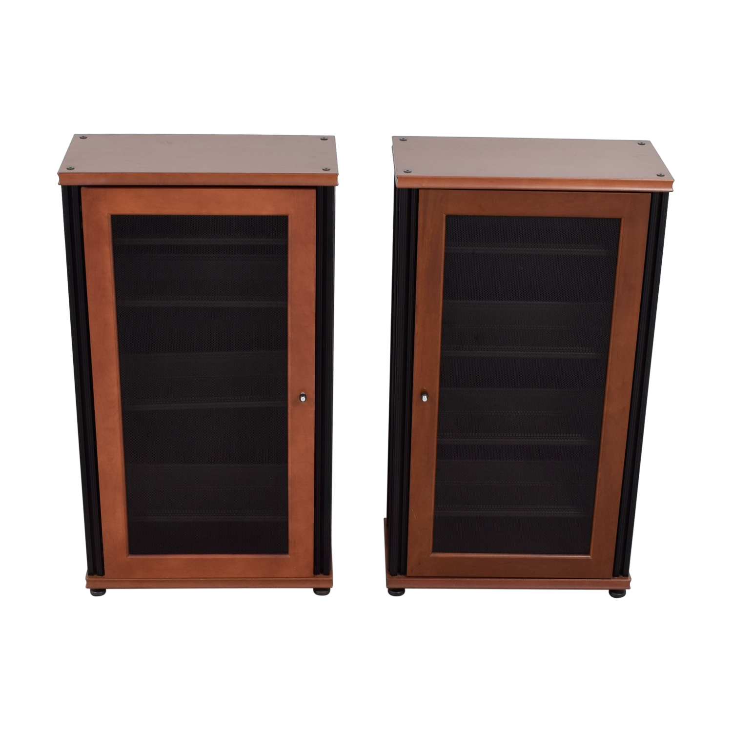 Salamander Designs Salamander Designs Synergy Media Cabinets with Glass Doors light brown