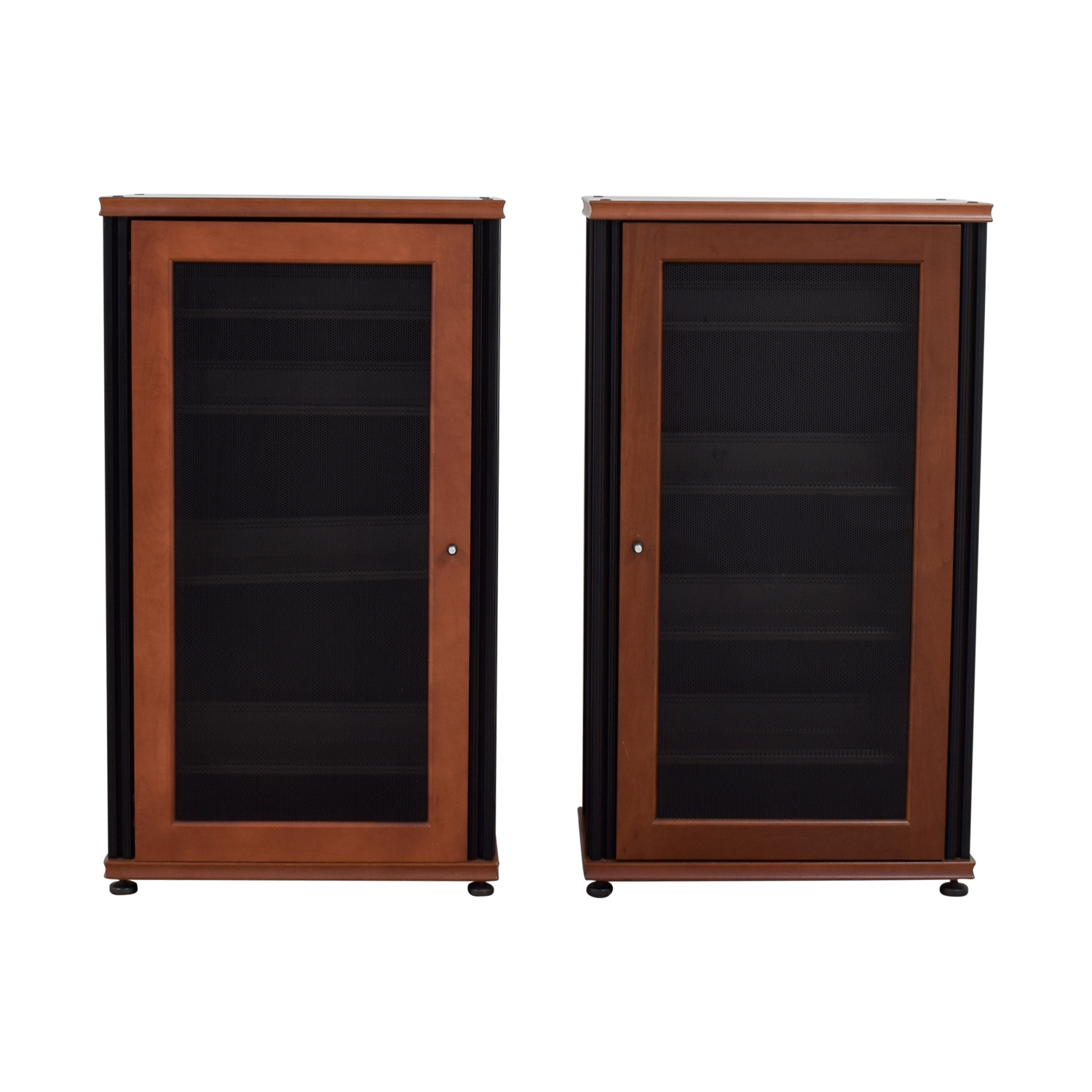 Salamander Designs Salamander Designs Synergy Media Cabinets with Glass Doors Bookcases & Shelving