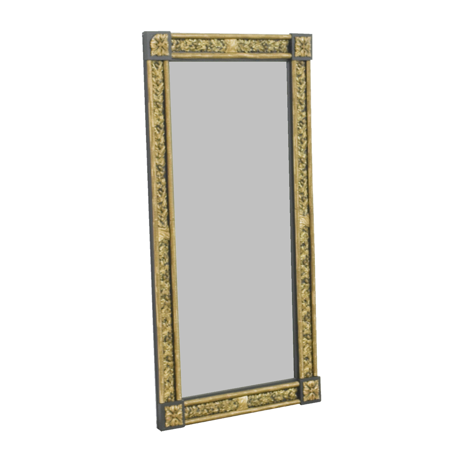 Gold and Silver Framed Wall Mirror