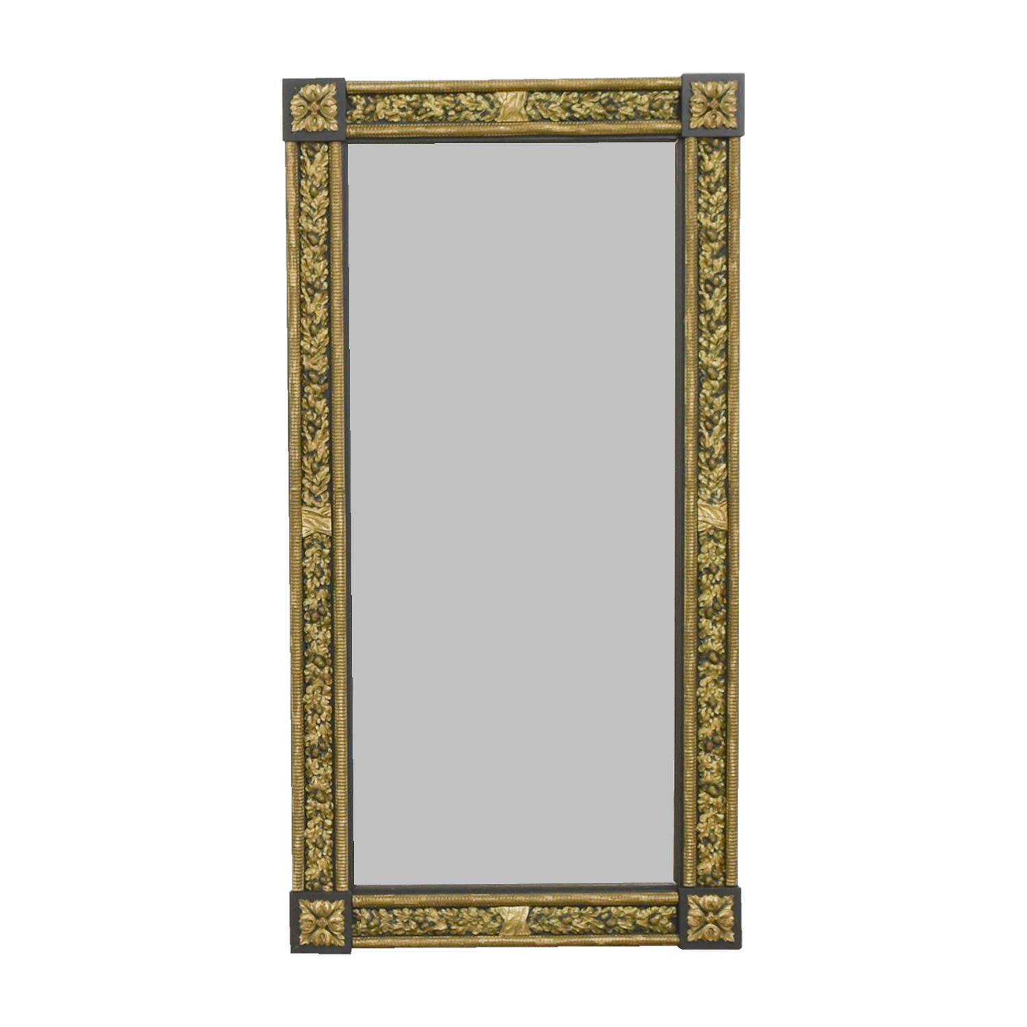 buy Gold and Silver Framed Wall Mirror