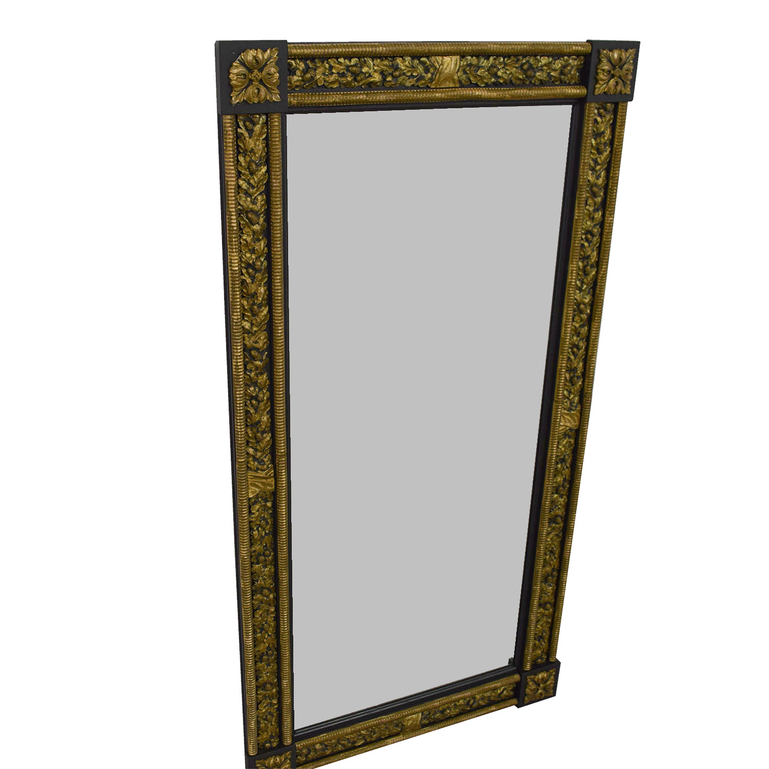 82 off gold and silver framed wall mirror decor for Silver framed mirror