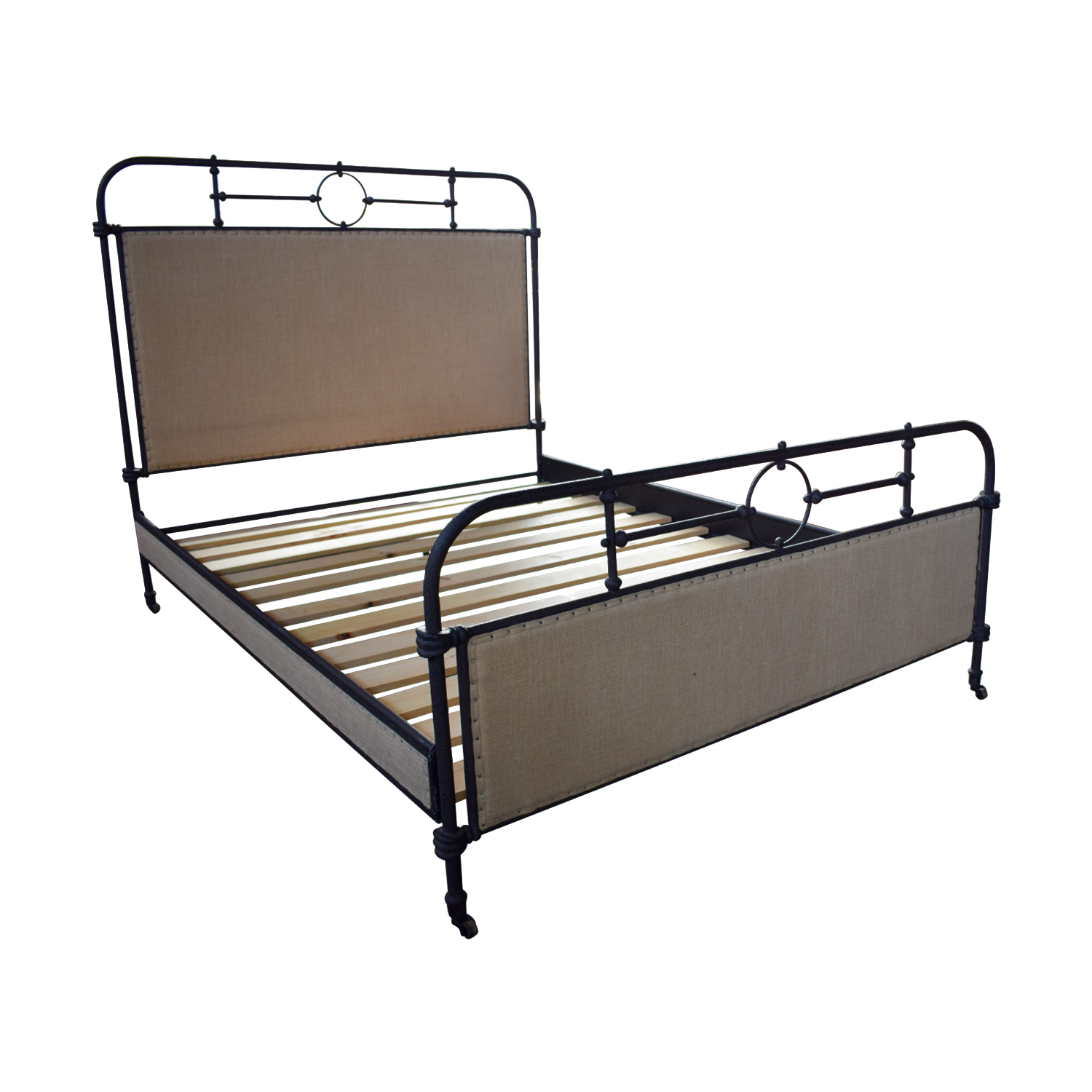 shop ABC Home ABC Home Upholstered Metal Queen Bed online