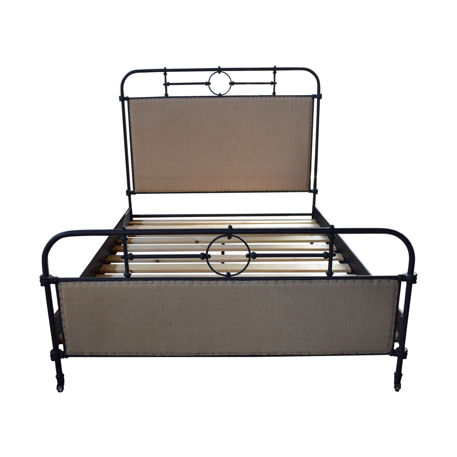 shop ABC Home Upholstered Metal Queen Bed ABC Home Beds