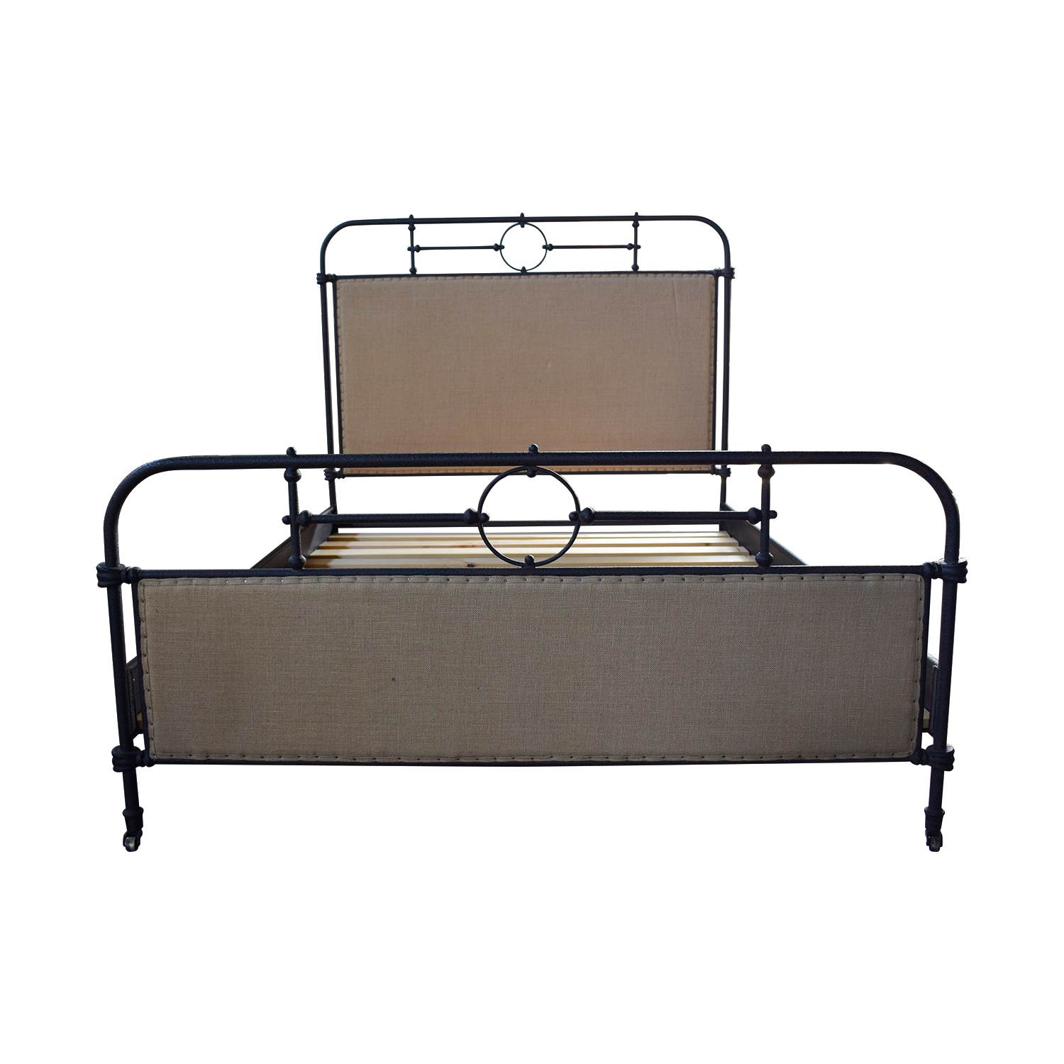 ABC Home Upholstered Metal Queen Bed / Beds