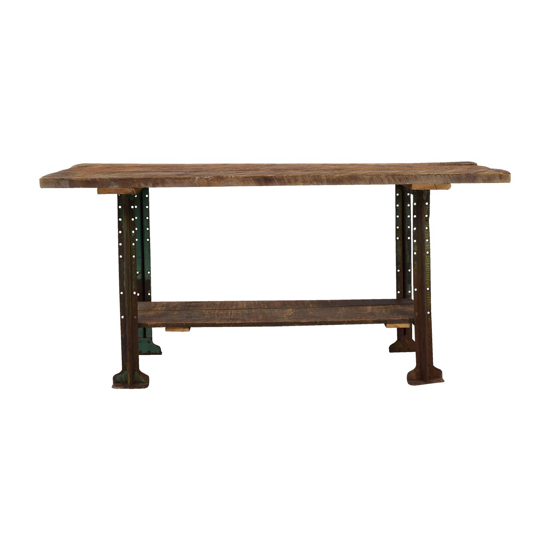 Brooklyn Flea Market Rustic Reclaimed Wood Table