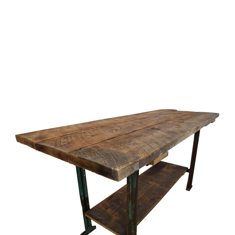 Brooklyn Flea Market Brooklyn Flea Market Rustic Reclaimed Wood Table on sale