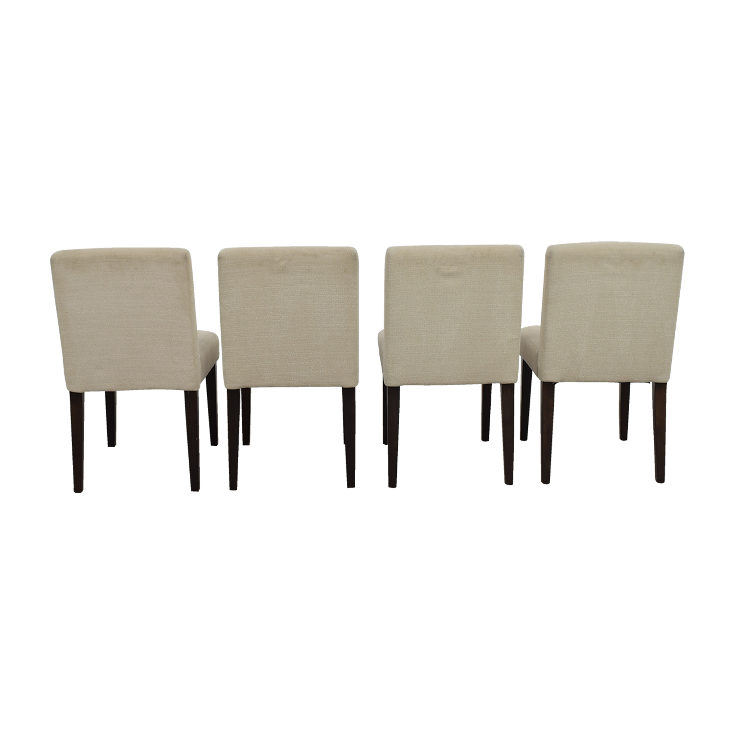Beige Upholstered Dining Chairs used