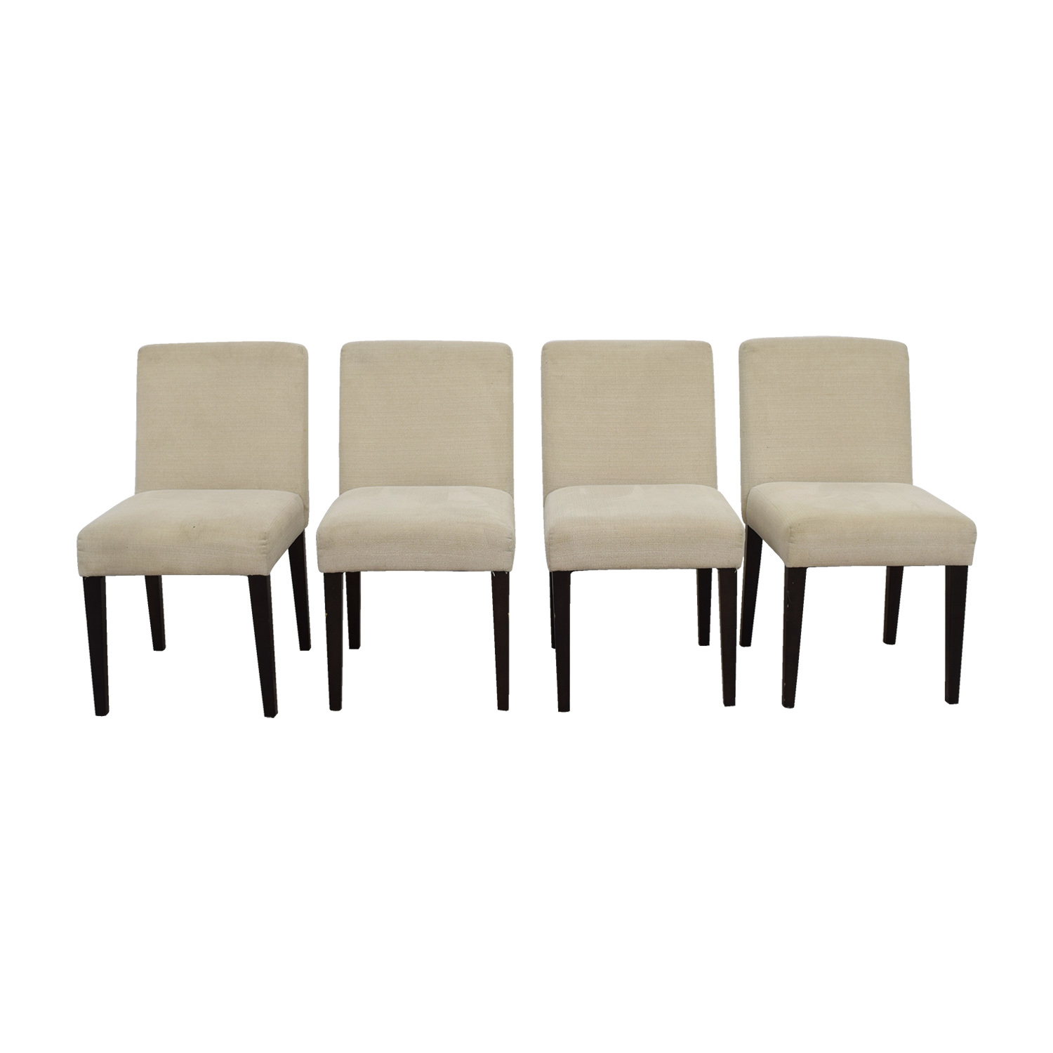 Beige Upholstered Dining Chairs for sale