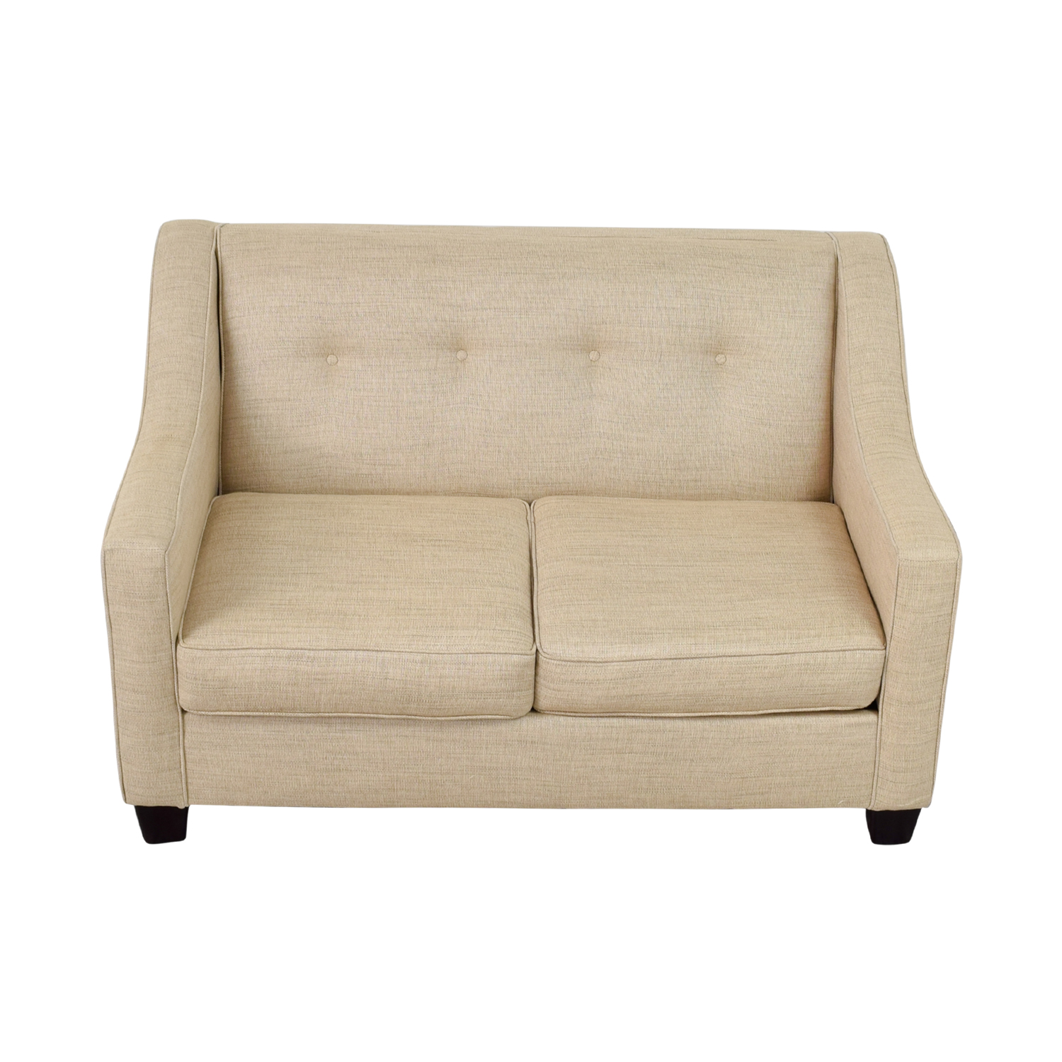 Bob's Furniture Bob's Furniture Caleb Tan Tufted Back Loveseat second hand