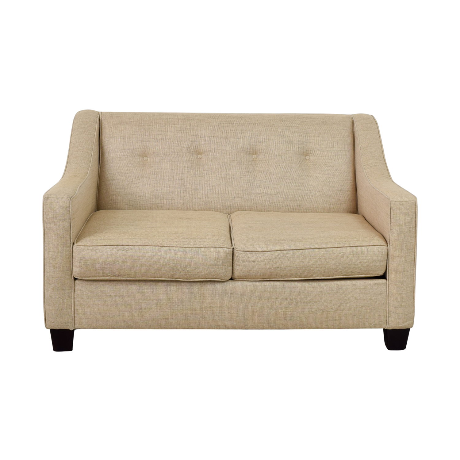 shop Bob's Furniture Caleb Tan Tufted Back Loveseat Bob's Furniture
