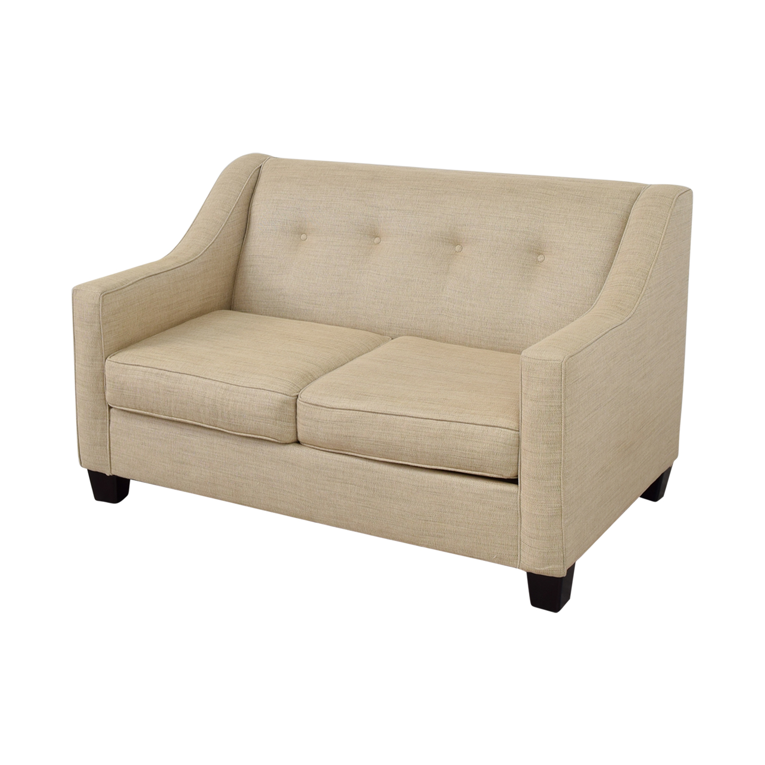 57 Off Bob S Furniture Bob S Furniture Caleb Tan Tufted Back Loveseat Sofas