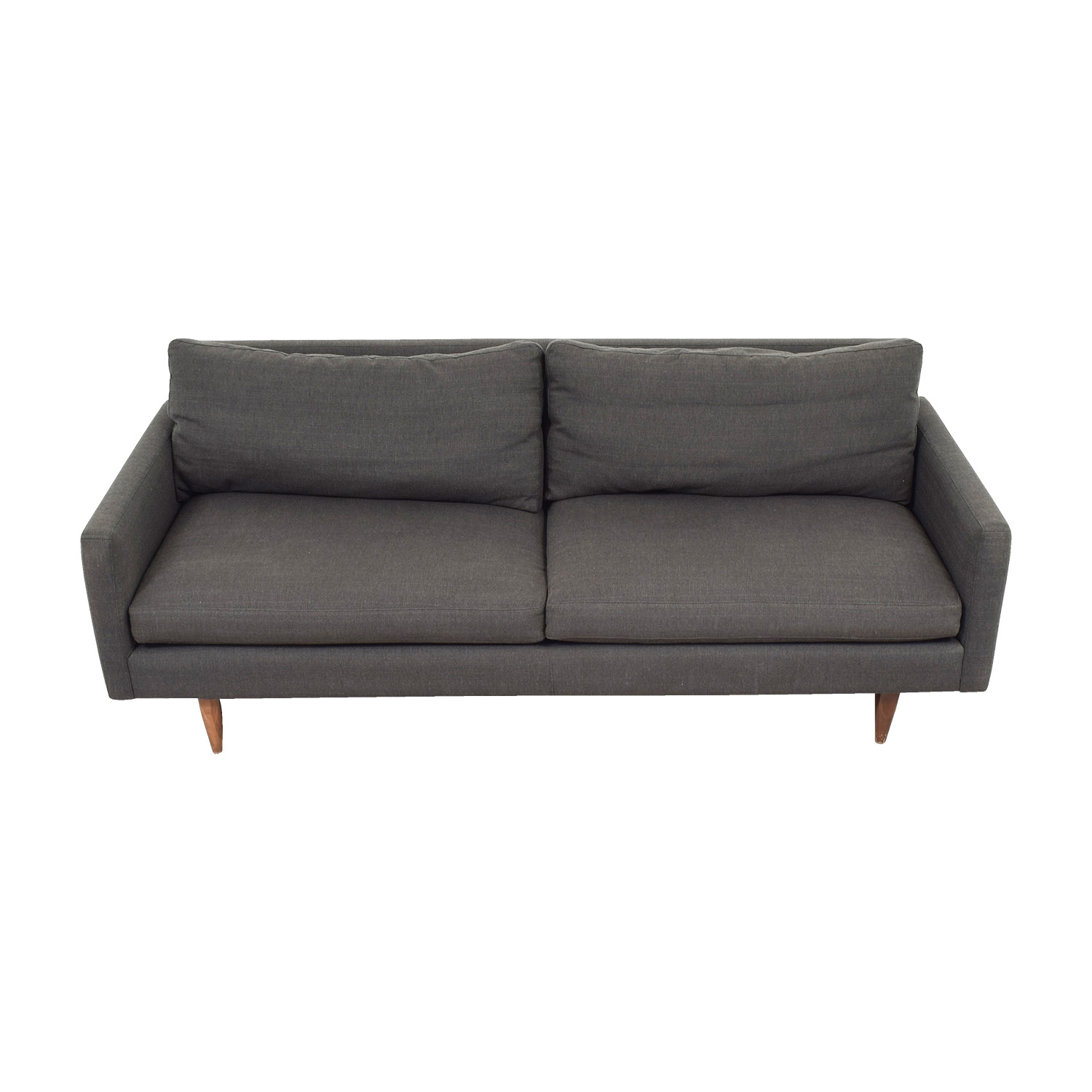 shop Room and Board Room & Board Jasper Grey Two-Cushion Sofa online