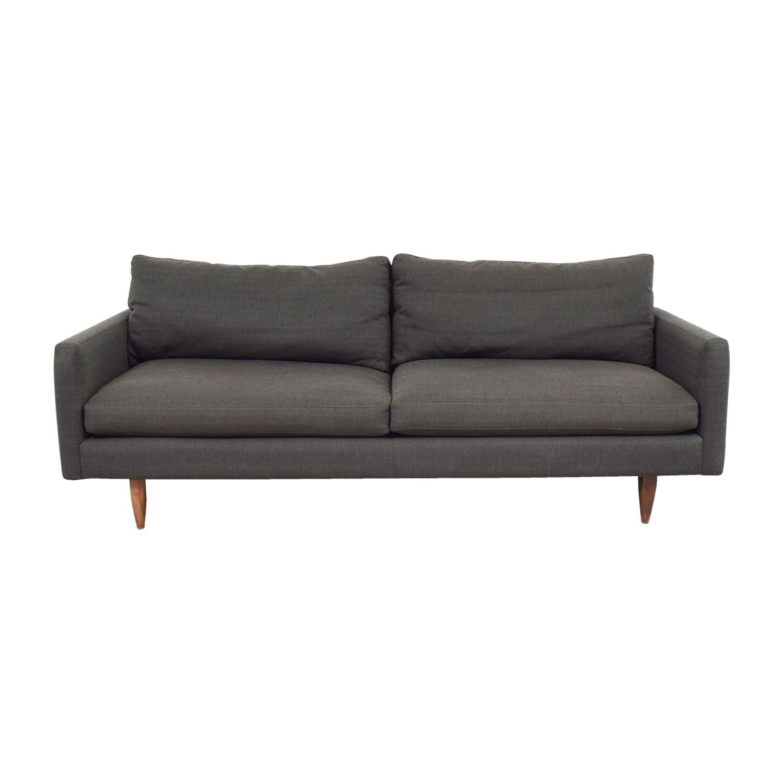 Room and Board Room & Board Jasper Grey Two-Cushion Sofa coupon