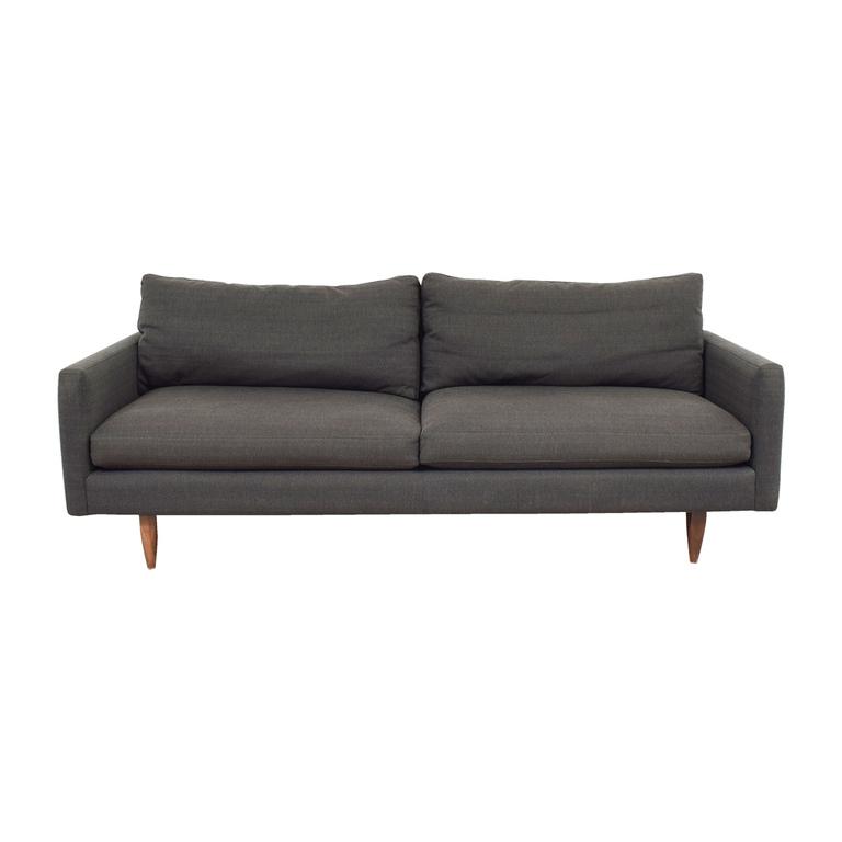 Room & Board Jasper Grey Two-Cushion Sofa Room and Board