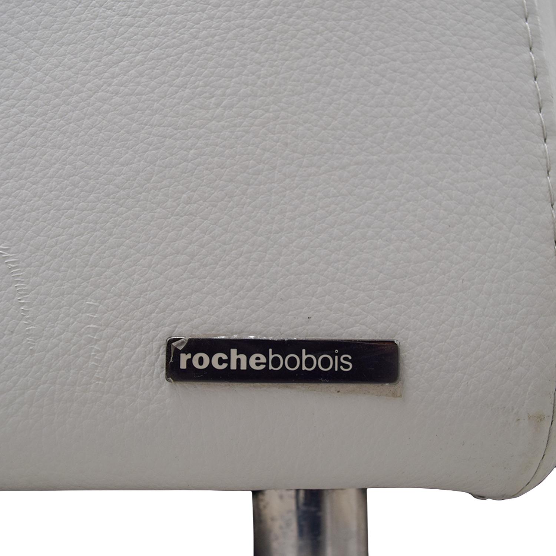 shop Roche Bobois White Digital Curved Three-Cushion Sofas with Ottoman Roche Bobois Sofas