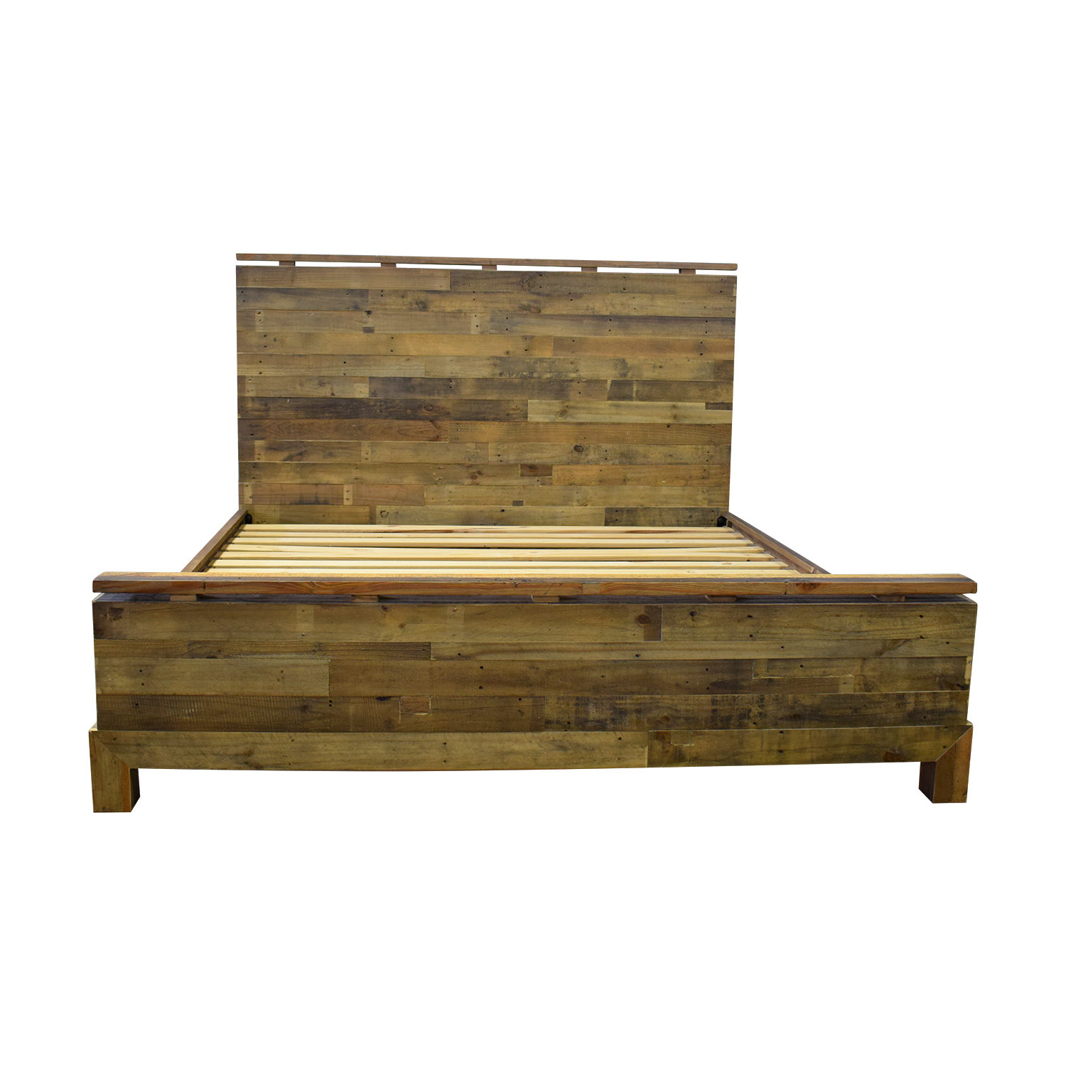 ABC Carpet & Home ABC Carpet & Home Rustic Wood King Bed Frame used