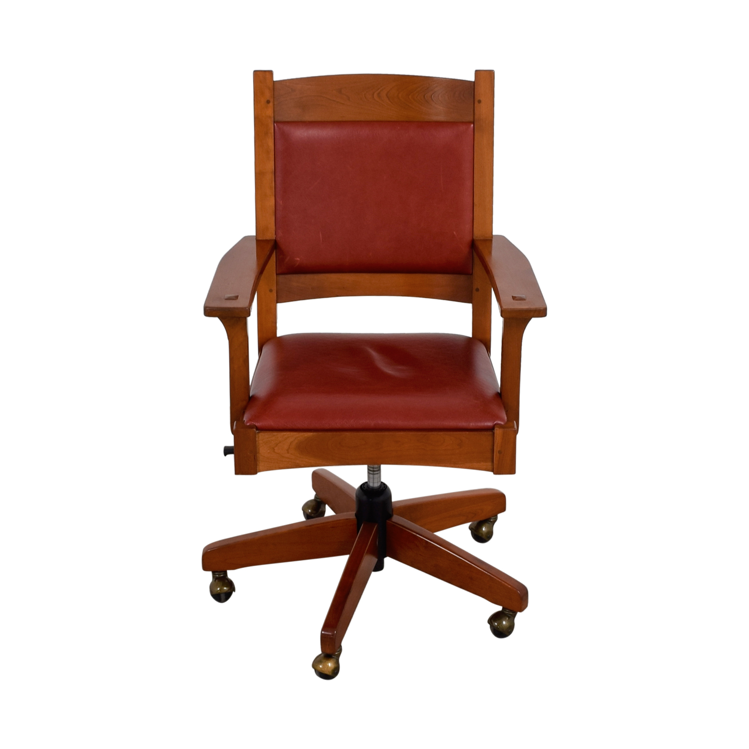 red leather office chair. Stickley Furniture Red Leather Desk Chair Office