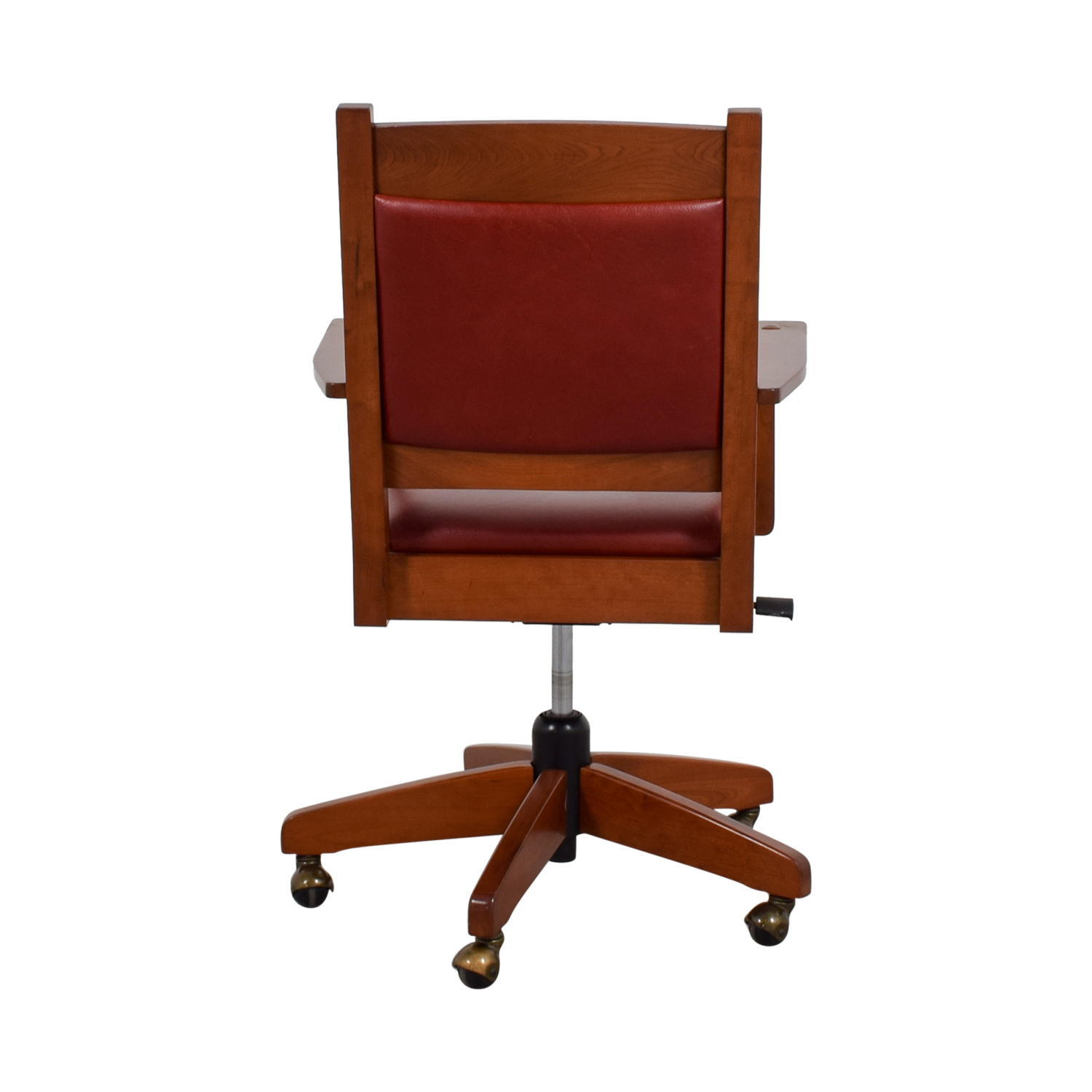 Stickley Furniture Stickley Furniture Red Leather Desk Chair for sale