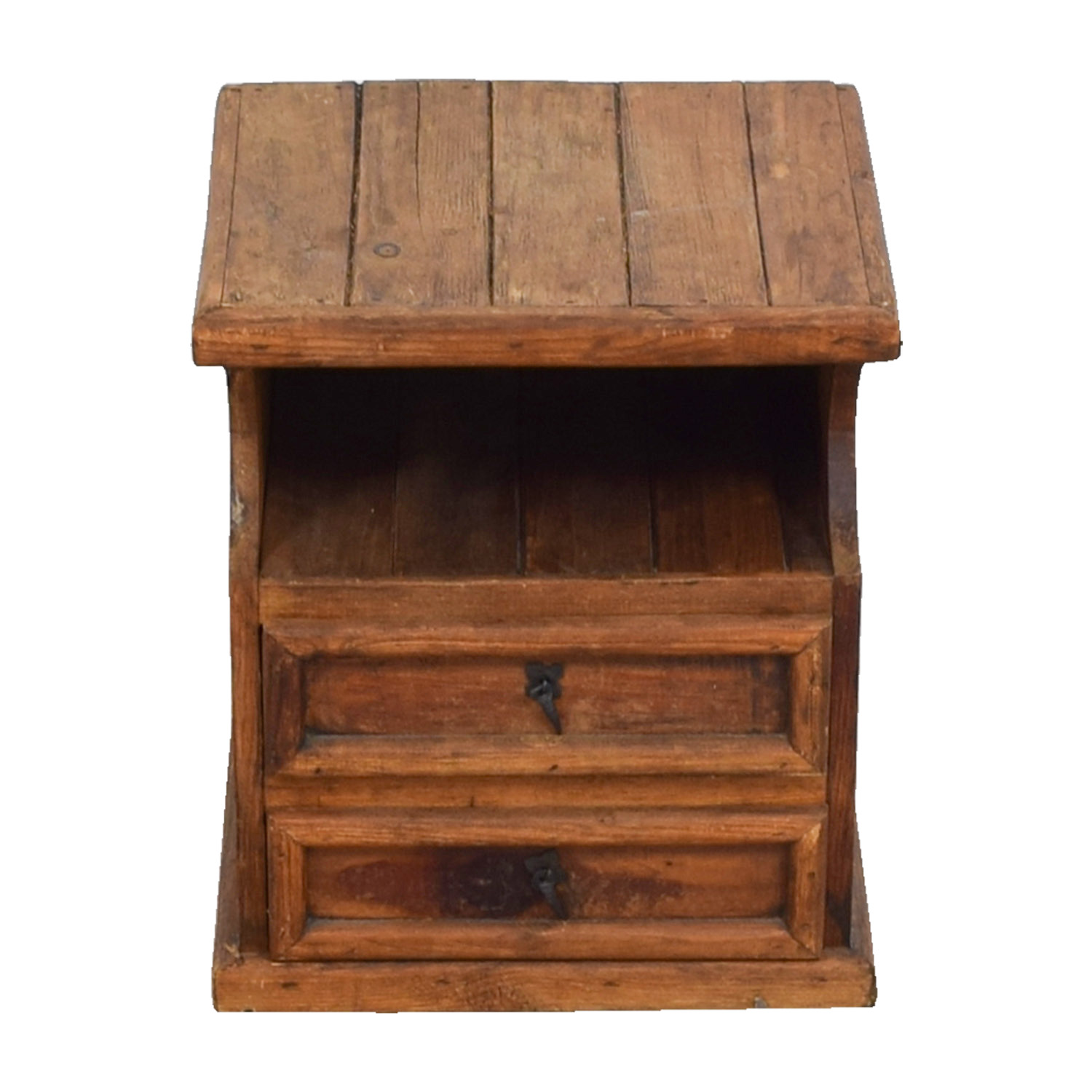 shop Rustic Two-Drawer Wood End Table End Tables