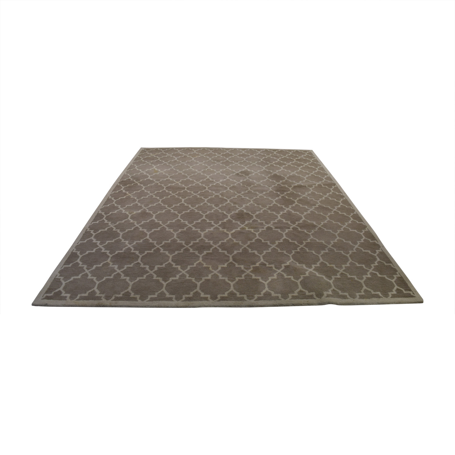 shop Crate & Barrel Crate & Barrel Wool Lattice Beige Pattern Rug online