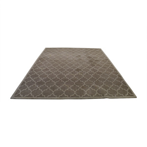 buy Crate & Barrel Wool Lattice Beige Pattern Rug Crate & Barrel