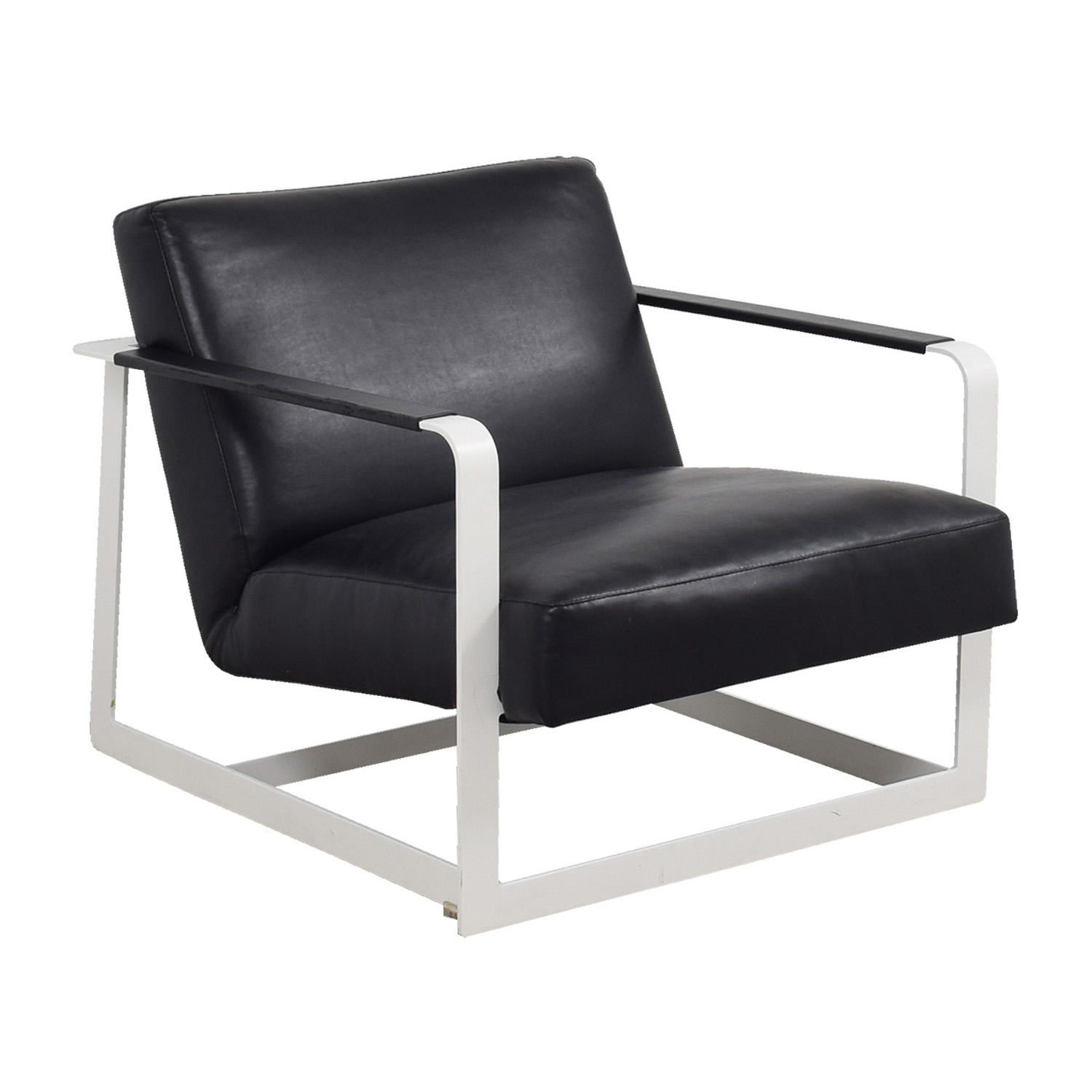 ... Modloft Crosby Black And White Lounge Chair / Chairs ...