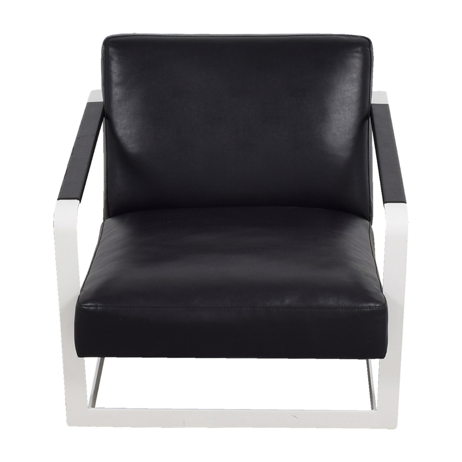 Modloft Modloft Crosby Black and White Lounge Chair nyc