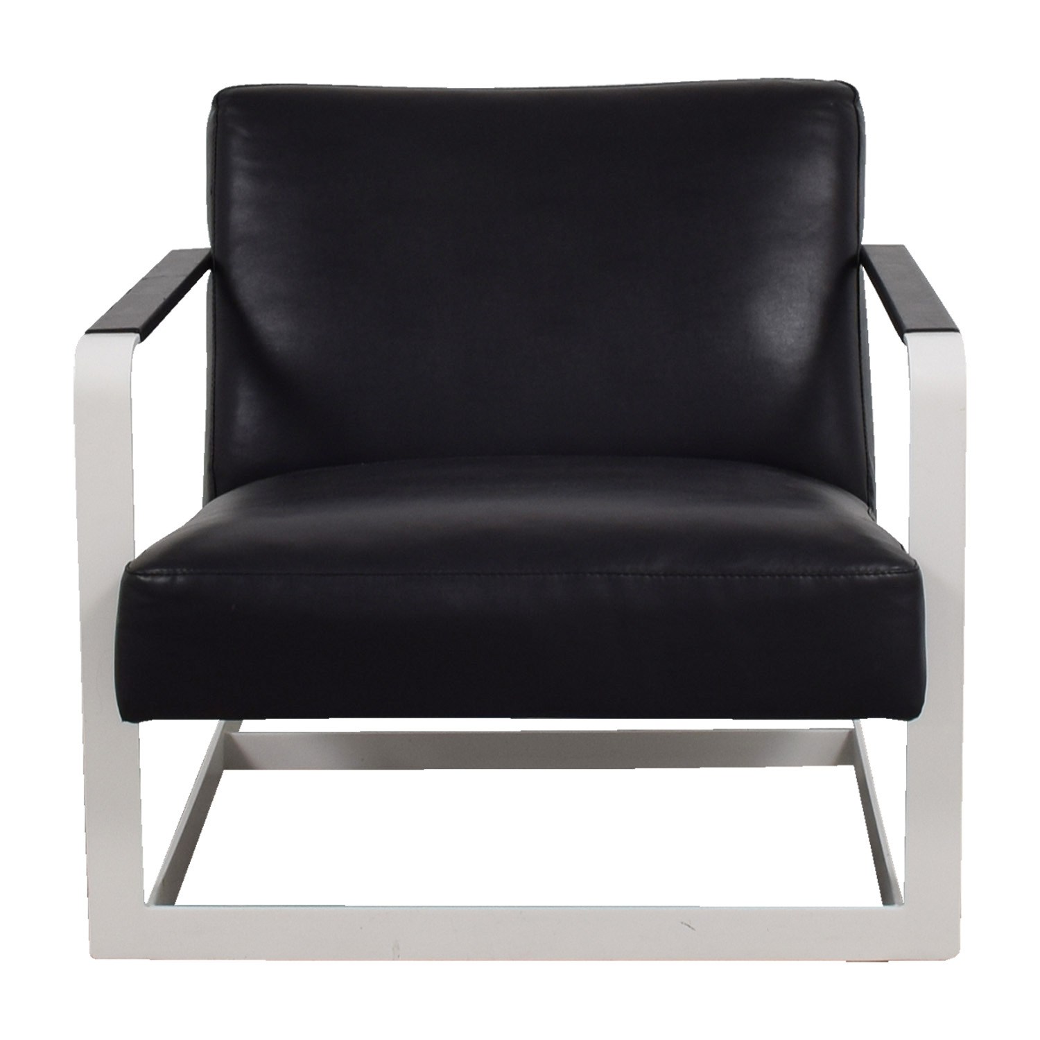 Modloft Modloft Crosby Black and White Lounge Chair nj
