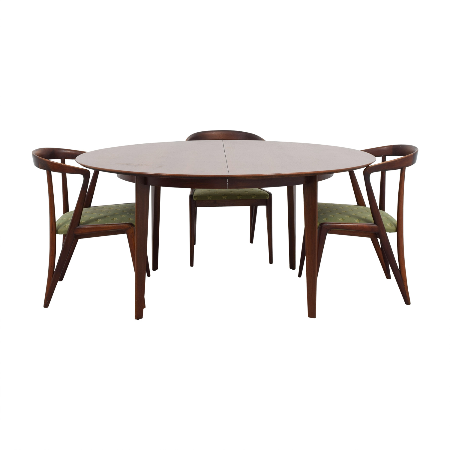 Dunbar Dunbar Mid-Century Two-Leaf Extention Dining Set used