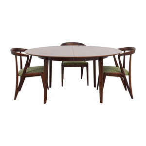 Dunbar Dunbar Mid-Century Two-Leaf Extension Dining Set nyc