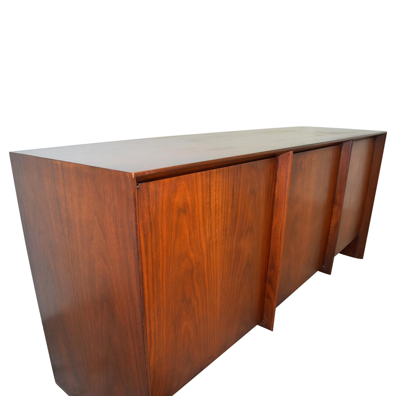 shop T.H. Robsjohn Gibbings for Widdicomb Floating Walnut Sideboard T.H. Robsjohn Gibbings
