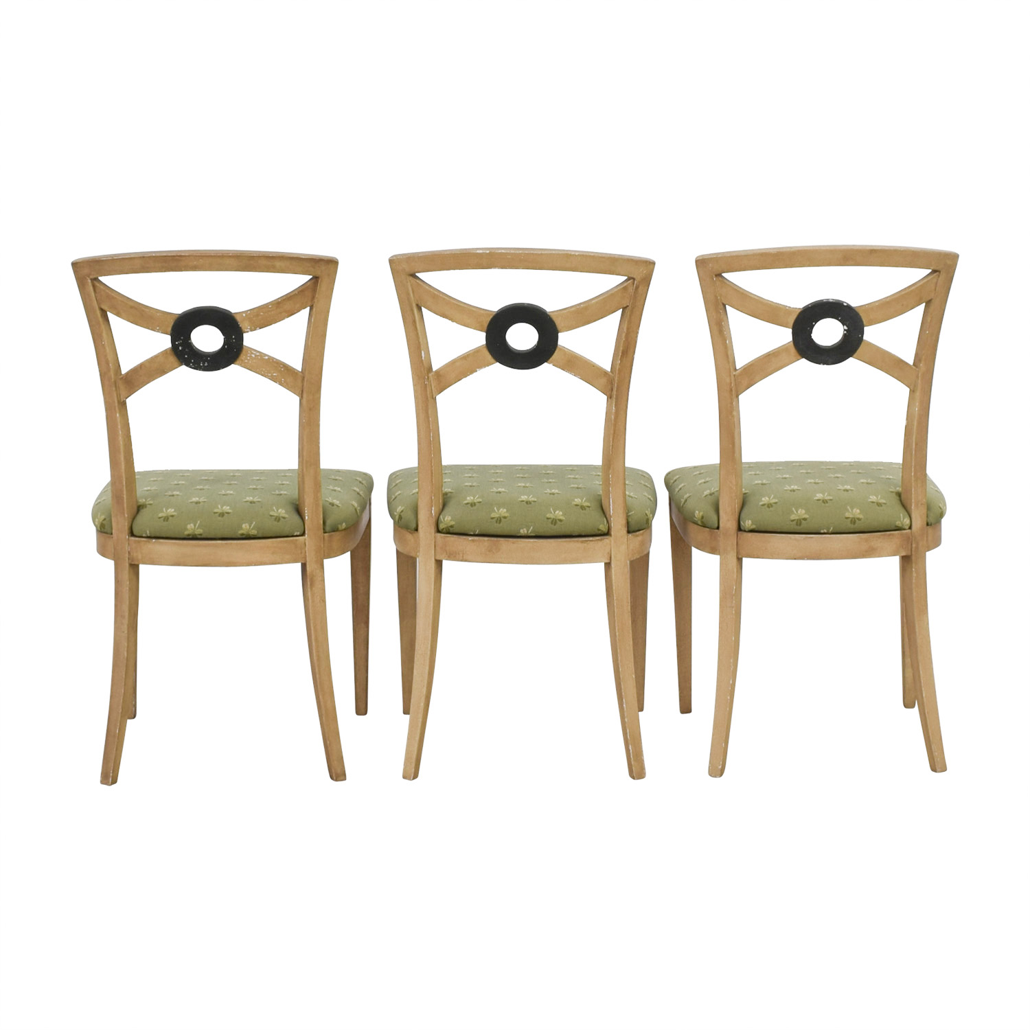 Painted Four Leaf Clover Chairs dimensions